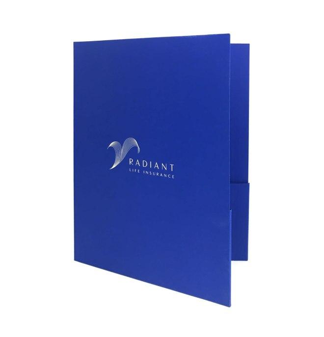 Custom designed and produced Radiant Life Insurance folder.